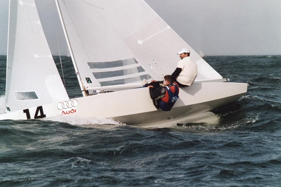 Mondiale Star 2004 Paul Cayard in regata.