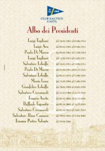 Albo Presidenti Club Nautico 2019
